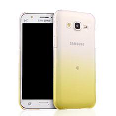 Carcasa Silicona Ultrafina Transparente Gradiente para Samsung Galaxy J5 SM-J500F Amarillo