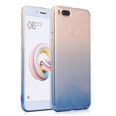 Carcasa Silicona Ultrafina Transparente Gradiente para Xiaomi Mi A1 Azul