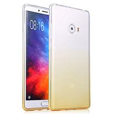 Carcasa Silicona Ultrafina Transparente Gradiente para Xiaomi Mi Note 2 Amarillo