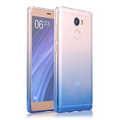 Carcasa Silicona Ultrafina Transparente Gradiente para Xiaomi Redmi 4 Standard Edition Azul