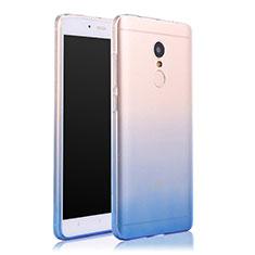 Carcasa Silicona Ultrafina Transparente Gradiente para Xiaomi Redmi Note 4X Azul
