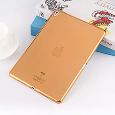 Carcasa Silicona Ultrafina Transparente para Apple iPad Pro 9.7 Oro