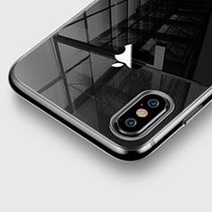 Carcasa Silicona Ultrafina Transparente para Apple iPhone X Gris