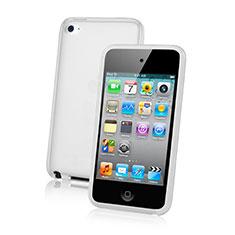 Carcasa Silicona Ultrafina Transparente para Apple iPod Touch 4 Blanco