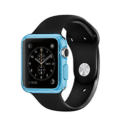 Carcasa Silicona Ultrafina Transparente para Apple iWatch 3 42mm Azul