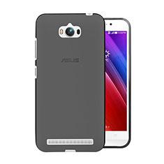 Carcasa Silicona Ultrafina Transparente para Asus Zenfone Max ZC550KL Gris