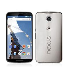 Carcasa Silicona Ultrafina Transparente para Google Nexus 6 Gris