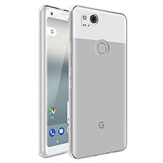 Carcasa Silicona Ultrafina Transparente para Google Pixel 2 Claro