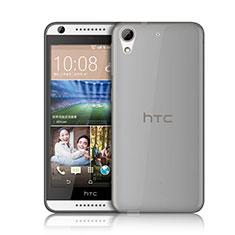 Carcasa Silicona Ultrafina Transparente para HTC Desire 626 Gris