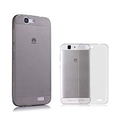 Carcasa Silicona Ultrafina Transparente para Huawei Ascend G7 Gris