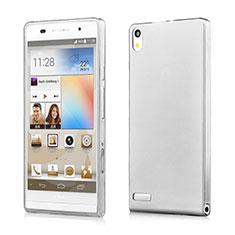 Carcasa Silicona Ultrafina Transparente para Huawei Ascend P6 Gris
