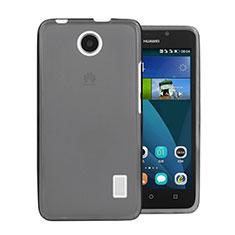 Carcasa Silicona Ultrafina Transparente para Huawei Ascend Y635 Dual SIM Gris