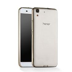 Carcasa Silicona Ultrafina Transparente para Huawei Honor 4A Gris