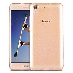 Carcasa Silicona Ultrafina Transparente para Huawei Honor 5A Oro