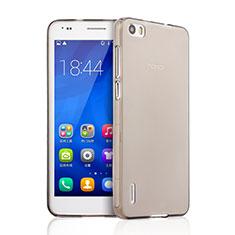 Carcasa Silicona Ultrafina Transparente para Huawei Honor 6 Gris