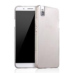 Carcasa Silicona Ultrafina Transparente para Huawei Honor 7i shot X Gris
