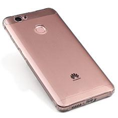 Carcasa Silicona Ultrafina Transparente para Huawei Nova Gris