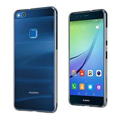 Carcasa Silicona Ultrafina Transparente para Huawei P10 Lite Gris
