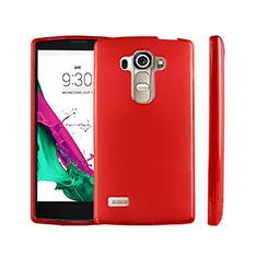 Carcasa Silicona Ultrafina Transparente para LG G4 Beat Rojo