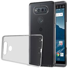 Carcasa Silicona Ultrafina Transparente para LG V20 Gris