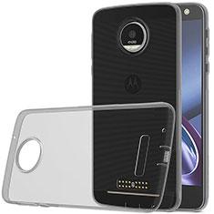 Carcasa Silicona Ultrafina Transparente para Motorola Moto Z Play Gris