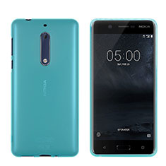 Carcasa Silicona Ultrafina Transparente para Nokia 5 Azul