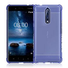 Carcasa Silicona Ultrafina Transparente para Nokia 8 Claro