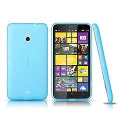Carcasa Silicona Ultrafina Transparente para Nokia Lumia 1320 Azul