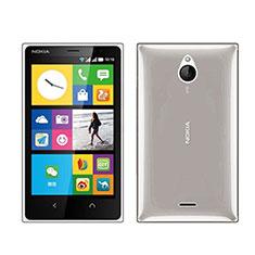 Carcasa Silicona Ultrafina Transparente para Nokia X2 Dual Sim Gris