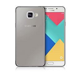 Carcasa Silicona Ultrafina Transparente para Samsung Galaxy A3 (2016) SM-A310F Gris