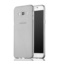 Carcasa Silicona Ultrafina Transparente para Samsung Galaxy A7 Duos SM-A700F A700FD Gris