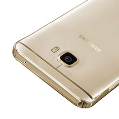 Carcasa Silicona Ultrafina Transparente para Samsung Galaxy C5 SM-C5000 Oro
