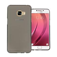 Carcasa Silicona Ultrafina Transparente para Samsung Galaxy C7 SM-C7000 Gris