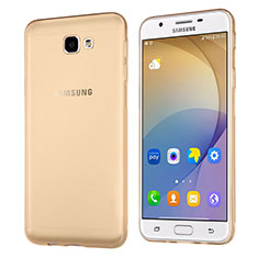 Carcasa Silicona Ultrafina Transparente para Samsung Galaxy J5 Prime G570F Oro