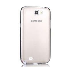 Carcasa Silicona Ultrafina Transparente para Samsung Galaxy Note 2 N7100 N7105 Gris
