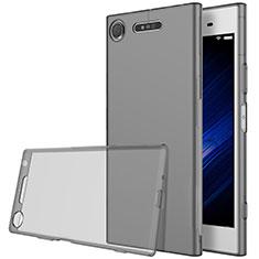 Carcasa Silicona Ultrafina Transparente para Sony Xperia XZ1 Gris