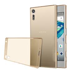 Carcasa Silicona Ultrafina Transparente para Sony Xperia XZs Oro