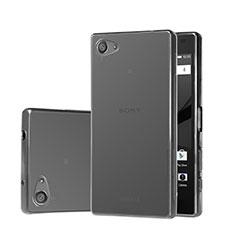 Carcasa Silicona Ultrafina Transparente para Sony Xperia Z5 Compact Gris