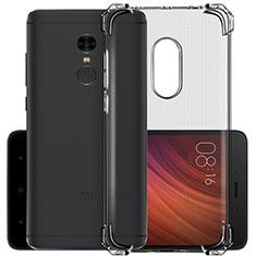 Carcasa Silicona Ultrafina Transparente para Xiaomi Redmi Note 4X Gris