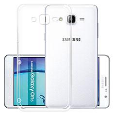 Carcasa Silicona Ultrafina Transparente R01 para Samsung Galaxy On5 Pro Claro