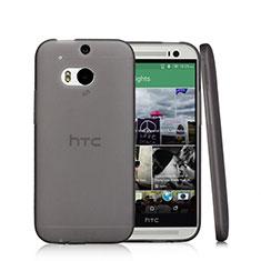 Carcasa Silicona Ultrafina Transparente T01 para HTC One M8 Negro