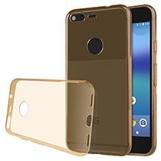 Carcasa Silicona Ultrafina Transparente T02 para Google Pixel Oro