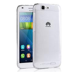 Carcasa Silicona Ultrafina Transparente T02 para Huawei Ascend G7 Claro