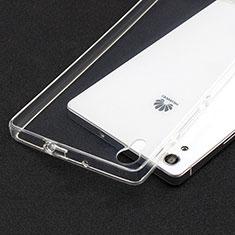Carcasa Silicona Ultrafina Transparente T02 para Huawei Ascend P7 Claro