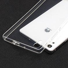 Carcasa Silicona Ultrafina Transparente T02 para Huawei P7 Dual SIM Claro
