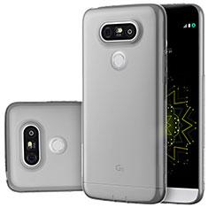 Carcasa Silicona Ultrafina Transparente T02 para LG G5 Gris