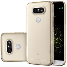 Carcasa Silicona Ultrafina Transparente T02 para LG G5 Oro