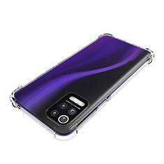 Carcasa Silicona Ultrafina Transparente T02 para LG Q52 Claro
