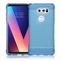 Carcasa Silicona Ultrafina Transparente T02 para LG V30 Azul