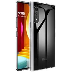 Carcasa Silicona Ultrafina Transparente T02 para LG Velvet 5G Claro